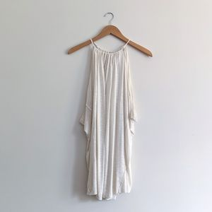 Free People Cream Swing Halter Tank Top